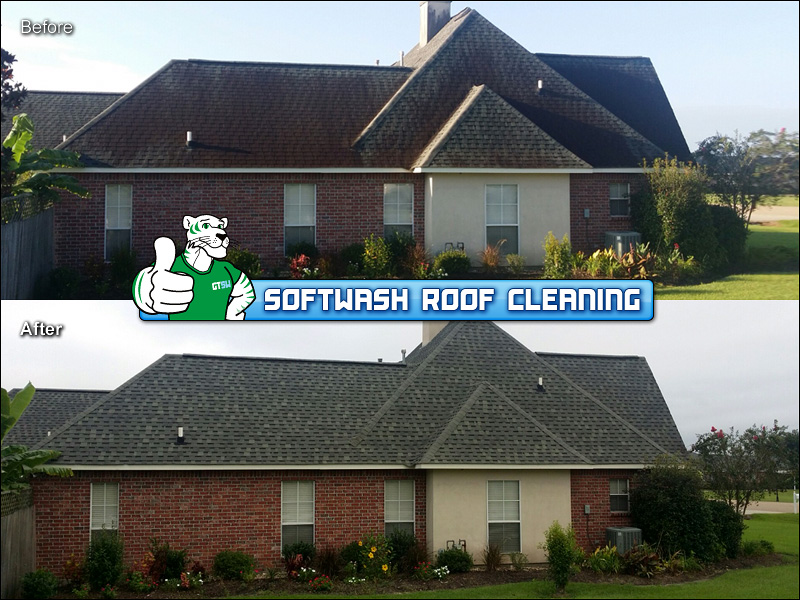Before Amp After Photos Of Baton Rouge La Roof Cleaning No